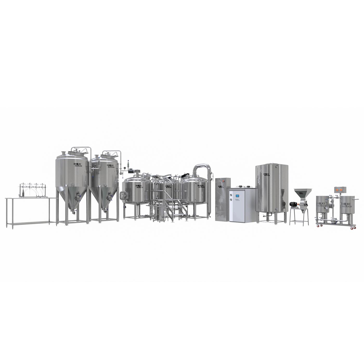 Proyecto Llave en Mano Cervecería 810L Nominales (500L Útiles) Eléctrico