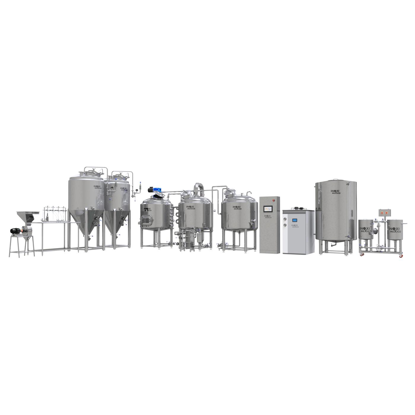 Proyecto Llave en Mano Cervecería 360L Nominales (300L Útiles) Eléctrico