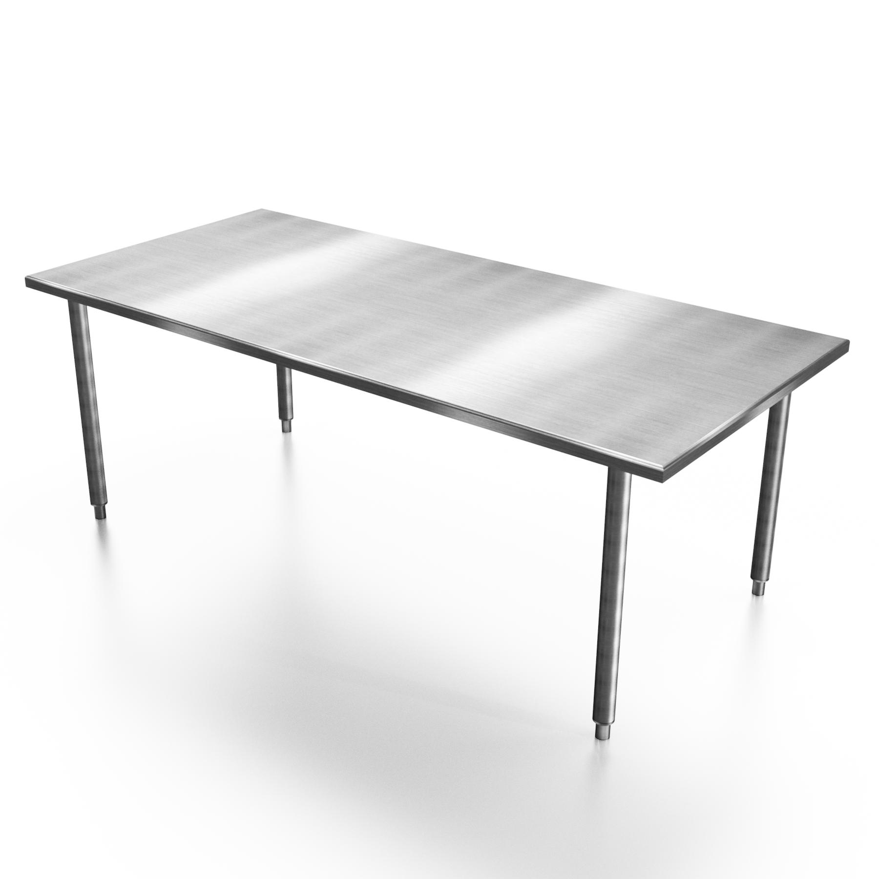 Mesa de Trabajo Sin Entrepaño (70x90x190 cm)