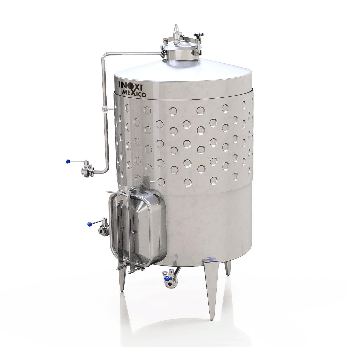 Fermentador De Vino Blanco de 1,500L Enchaquetado