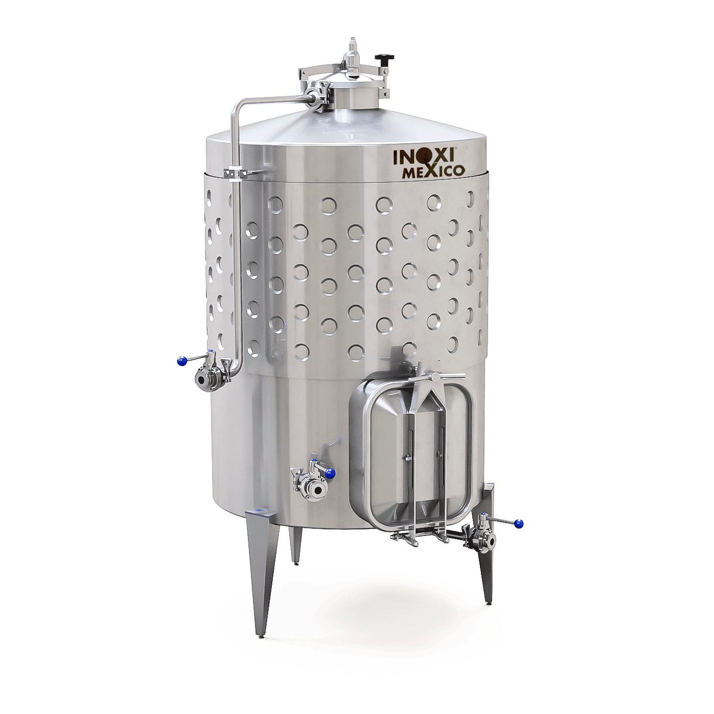 Fermentador De Vino Tinto de 1,000L Recirculado / Enchaquetado