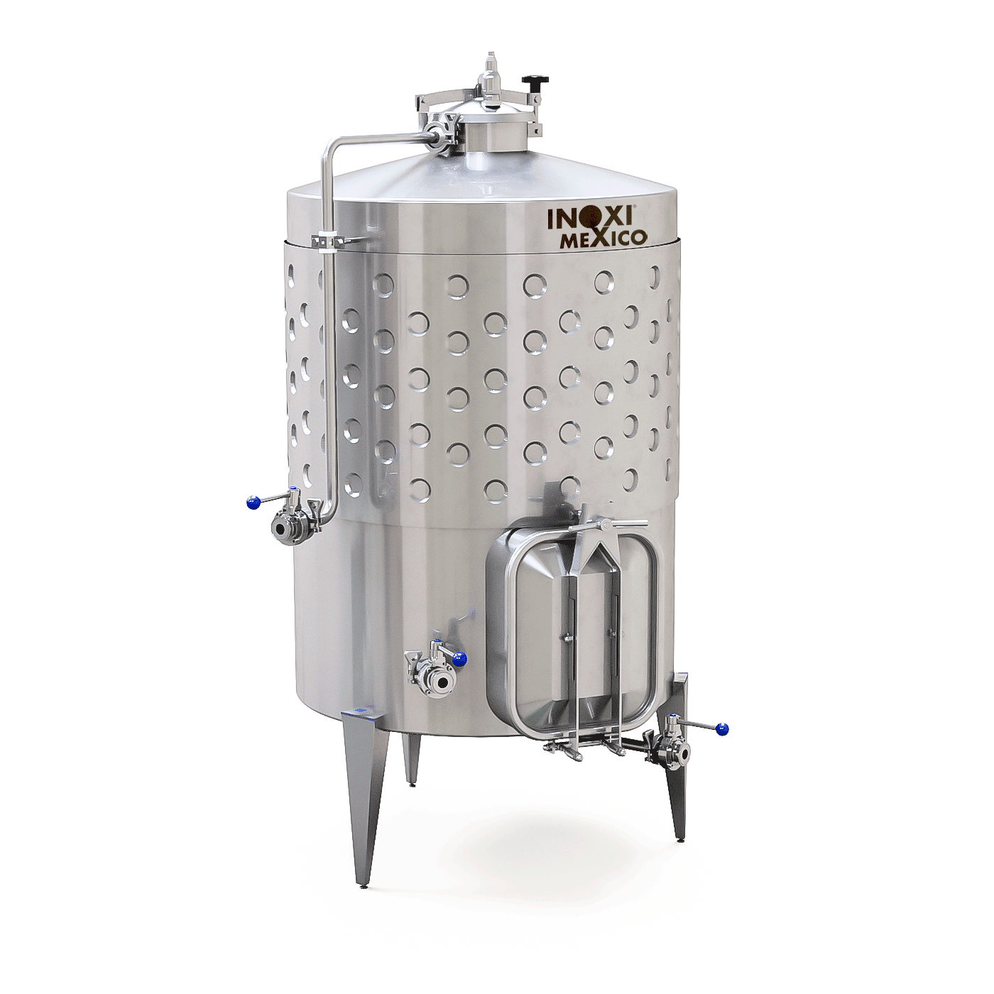Fermentador De Vino Tinto de 3,000L Recirculado / Enchaquetado