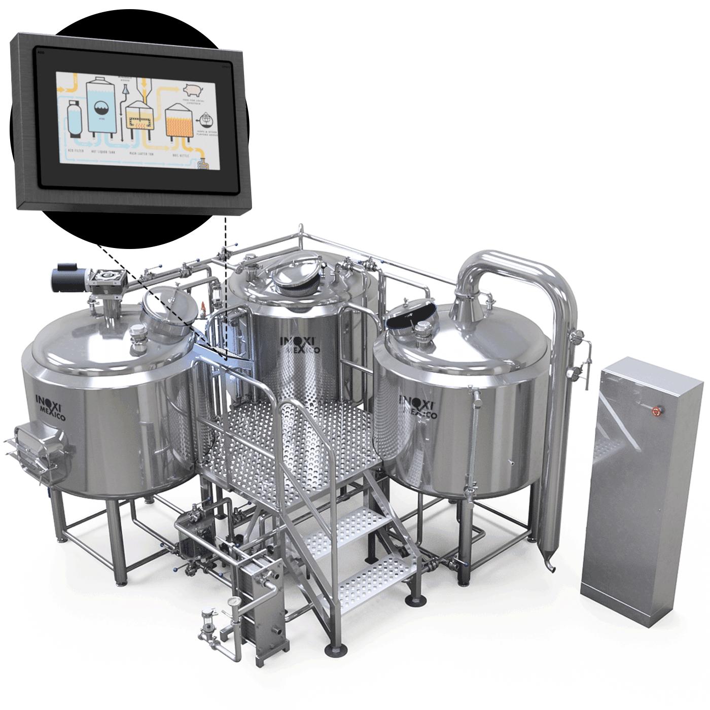 BrewersPro Calentamiento a Vapor 810 Litros Nominales (500L / 4.2BBL Útil)